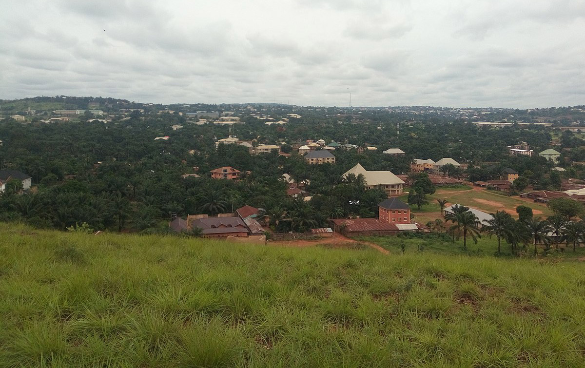 Ariel view of Nsukka from the mountains