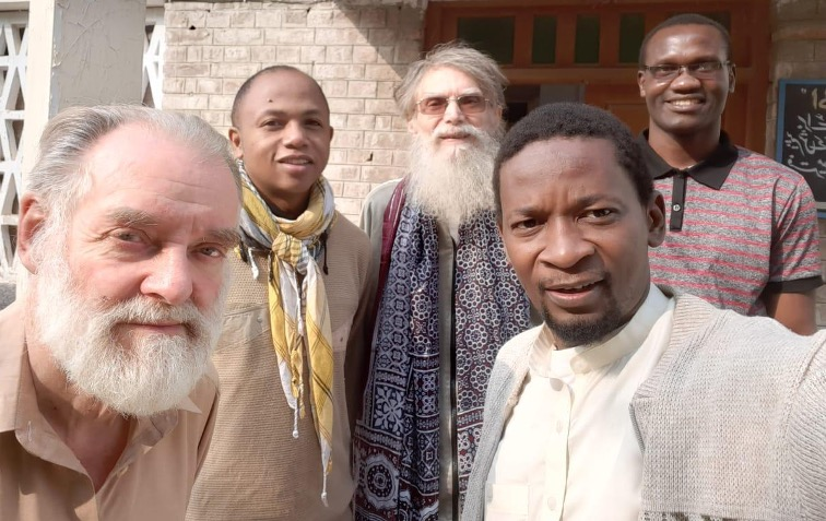 Fr Jim (centre), Michael Liston C.S.Sp. (far left) who is from Co. Limerick and who served in Pakistan for over 3 decades, and three current members of the Pakistan Group.